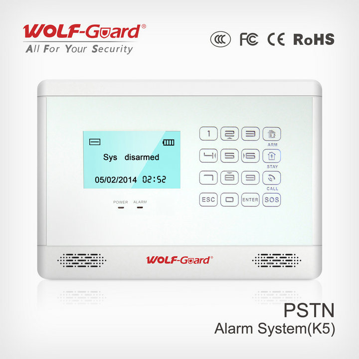Intrusion Alarm System LCD Display with Appliance Control 4 Wired and 99 Wireless Defense Zones