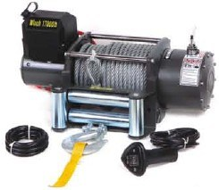17000lbs Heavy Duty Electric Winch for Truck Trailer Jeep 4X4