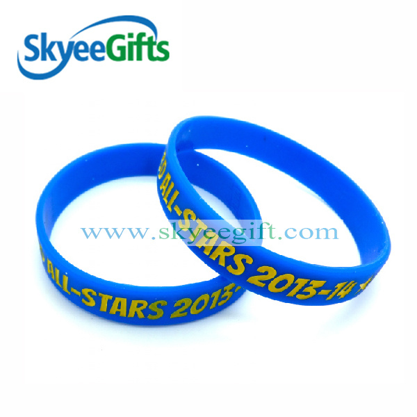 Customized Logo Debossed Ink Silicone Bracelet for Promotion