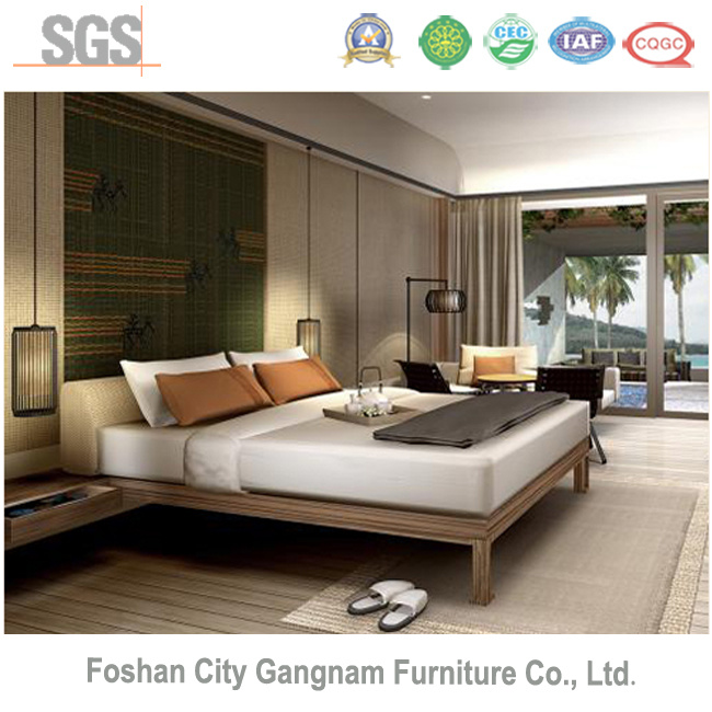 5 Stars Chinese Mordern Hotel Bedroom Wooden Furniture (GN-HBF-58)