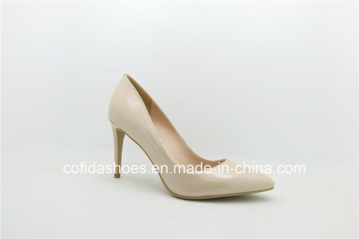 Fashionable High Heel Lady Leather Dress Shoes
