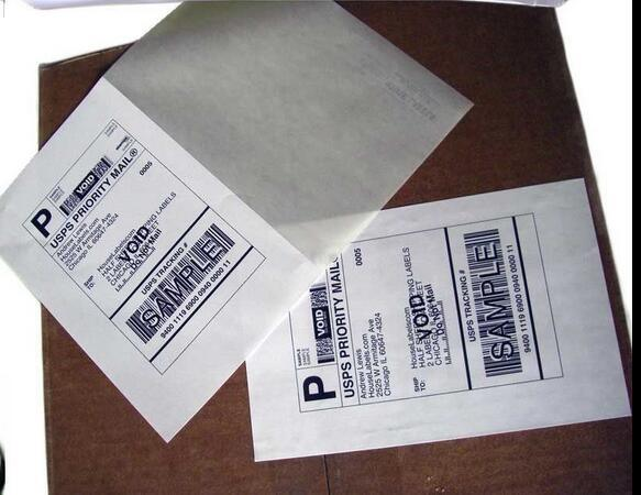 A4 Labels Shipping 8.5X5.5 Half-Sheet Self Adhesive Labels