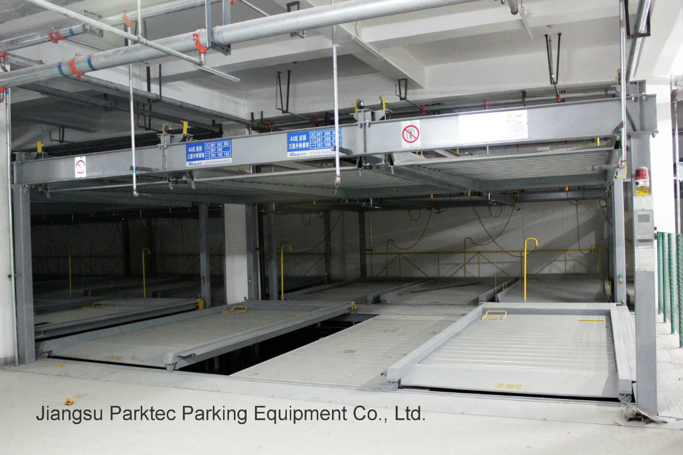 Pit Type Puzzle Parking System