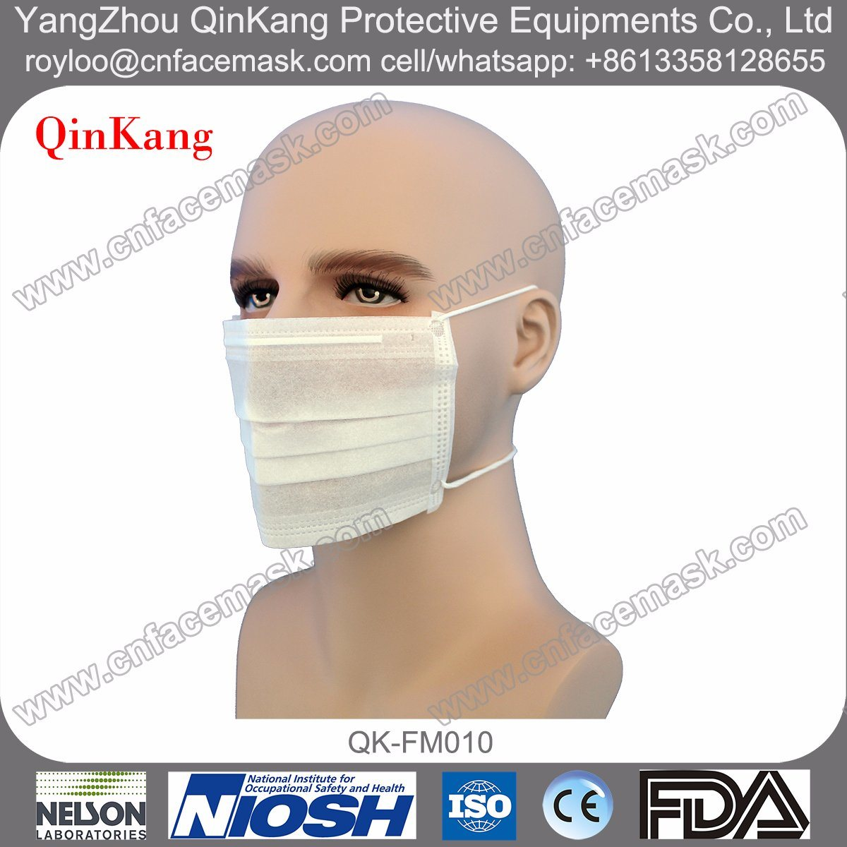 Disposable Non Woven Surgical Face Mask 3ply with Headloop