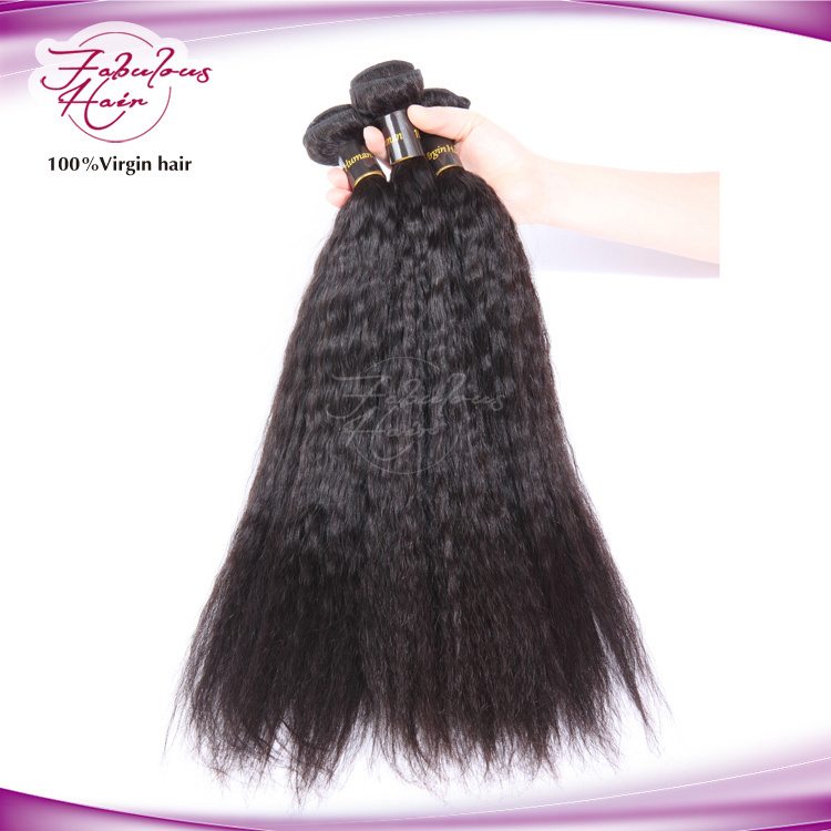 Christmas Human Hair Black Women Yaki Straight Remy Hair