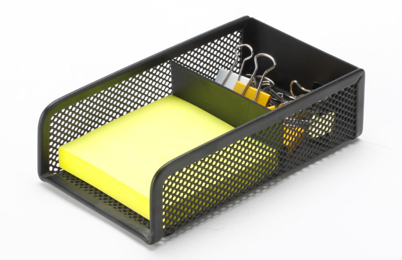 Metal Mesh Stationery Memo Holder/ Office Desk Accessories