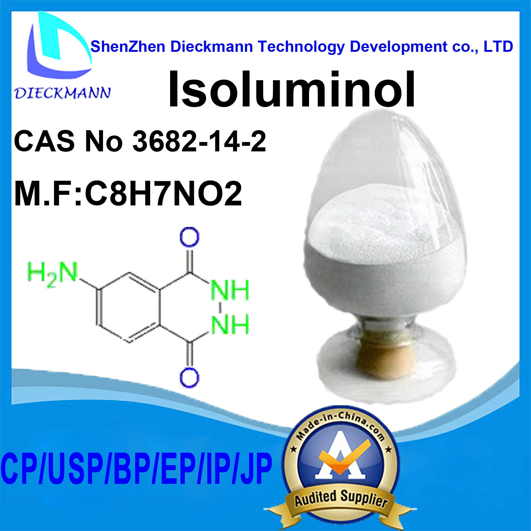 Isoluminol CAS No 3682-14-2 for Chemiluminescence Reagent