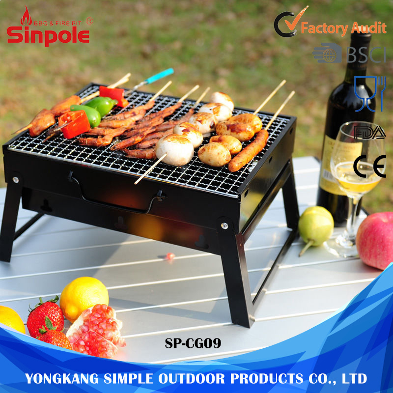 Mini Type Portable Folding Charcoal BBQ Grill Stove
