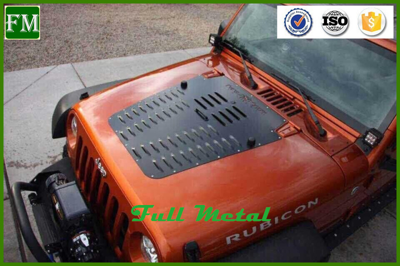 Poison Spyder Black Engine Hood Radiator Cover for Jeep Wrangler Jk