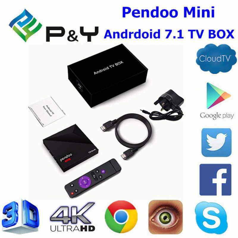 Free APP Download The Latest Android 7.1/Nougat TV Box Pendoo Mini Kodi Player 17 Rk3328 1GB DDR3 8GB