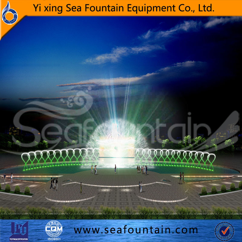 Various Water Type Multimedia Music Fountain with Water Screen Movie Fountain