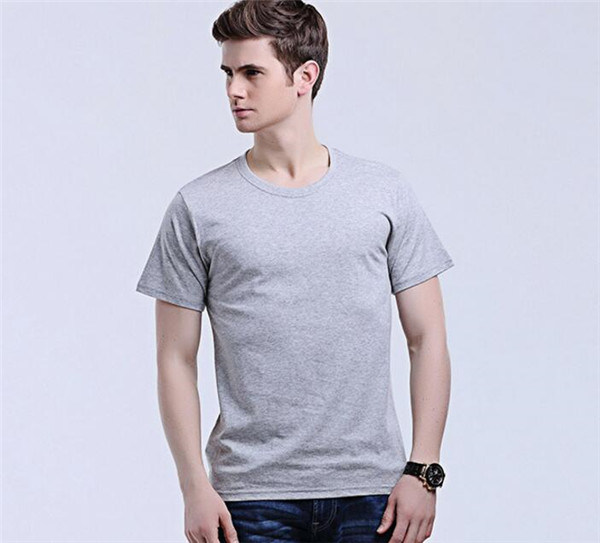 Fashion Men′s Round Neck Solid Color Cotton T-Shirts (46780)