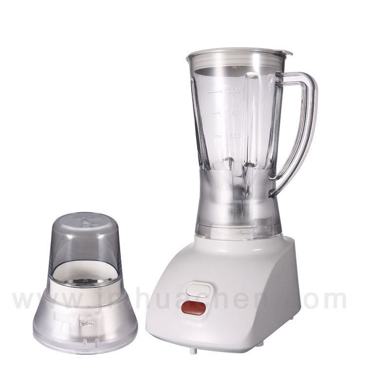 Blender Kitchen Appliance with Push Button Plastic Jar