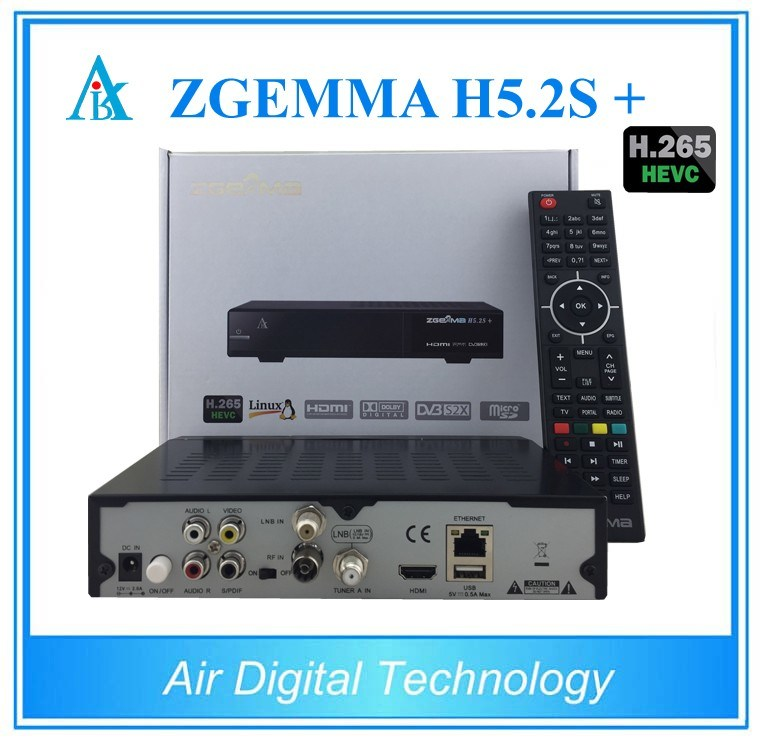 Multistream Decoder Zgemma H5.2s Plus with DVB-S2 + DVB-S2X +DVB-T2/C Three Tuners H. 265 Hevc Satellite Receiver