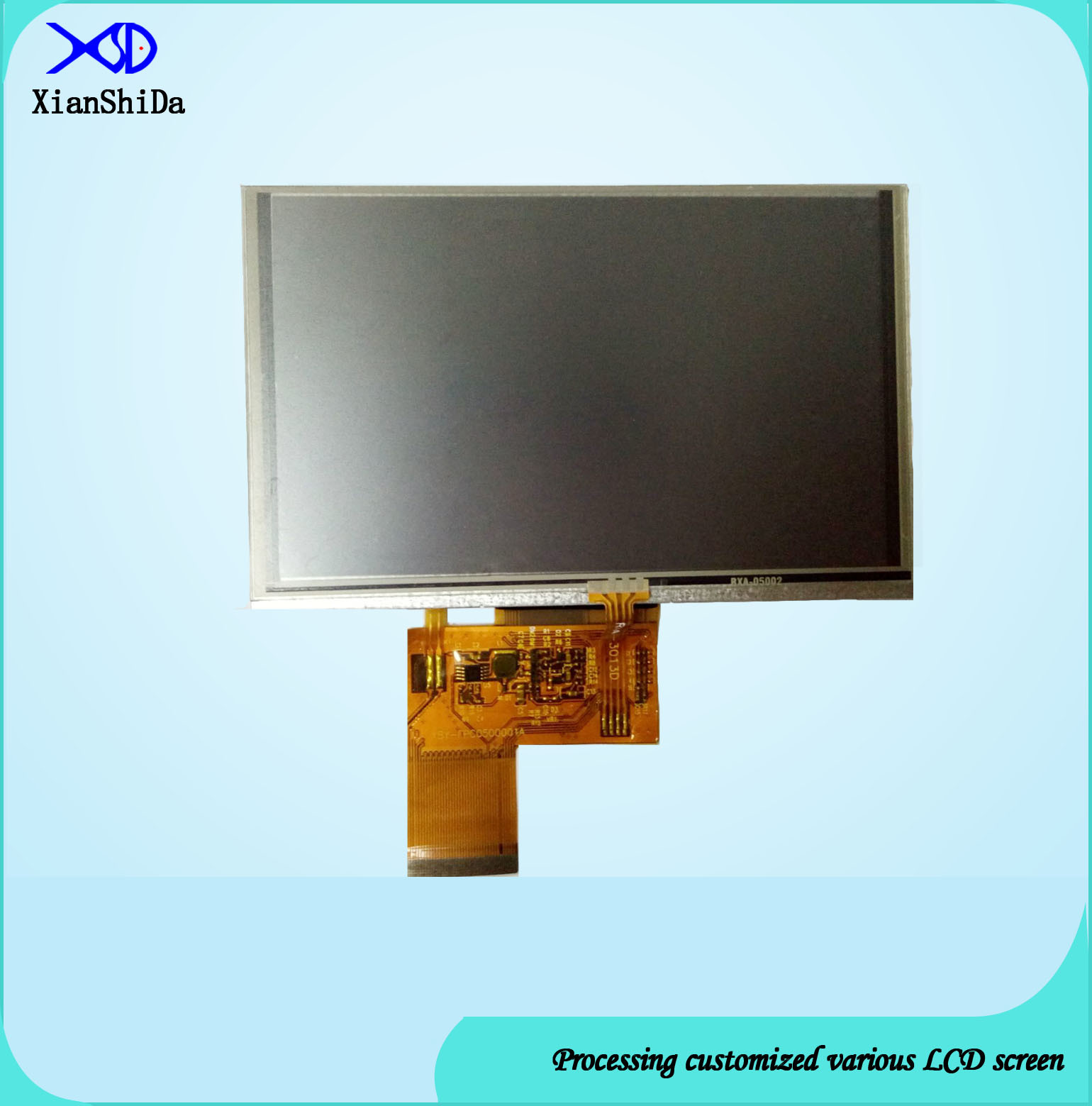 HD 5 Inch TFT LCD Screen with Resistive Touch Panel