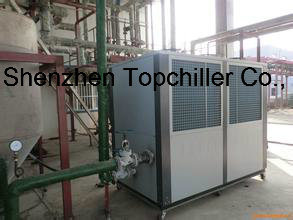 250kw (120Ton) Air Cooled Chiller Bitzer Compressor for Concrete Cooling