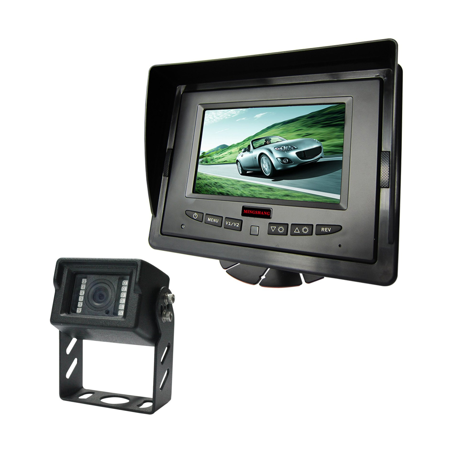 5 Inch Digital LCD Car Rear View Backup Monitor for Bus, Trucks