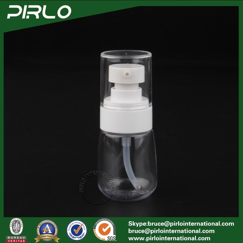 30ml 1oz Round Shape Plastic Pump Spray Bottle Empty Refillable Travel Use Lotion Bottle Essential Oil Pump Spray Bottle