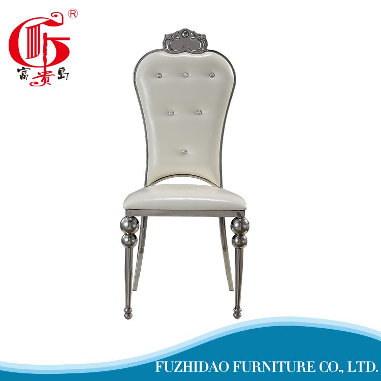 Hot Modern Design Hotel Metal Furniture Banquet Chair with PU Cushion