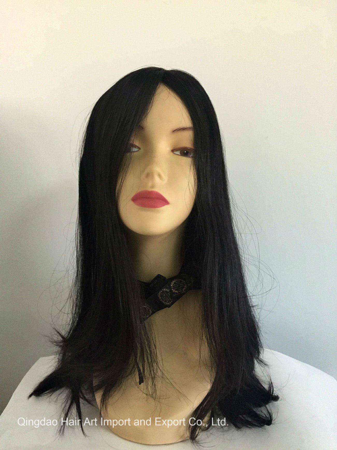 22′′ Mongolian Virgin Hair Silk Top Jewish Wig for Women
