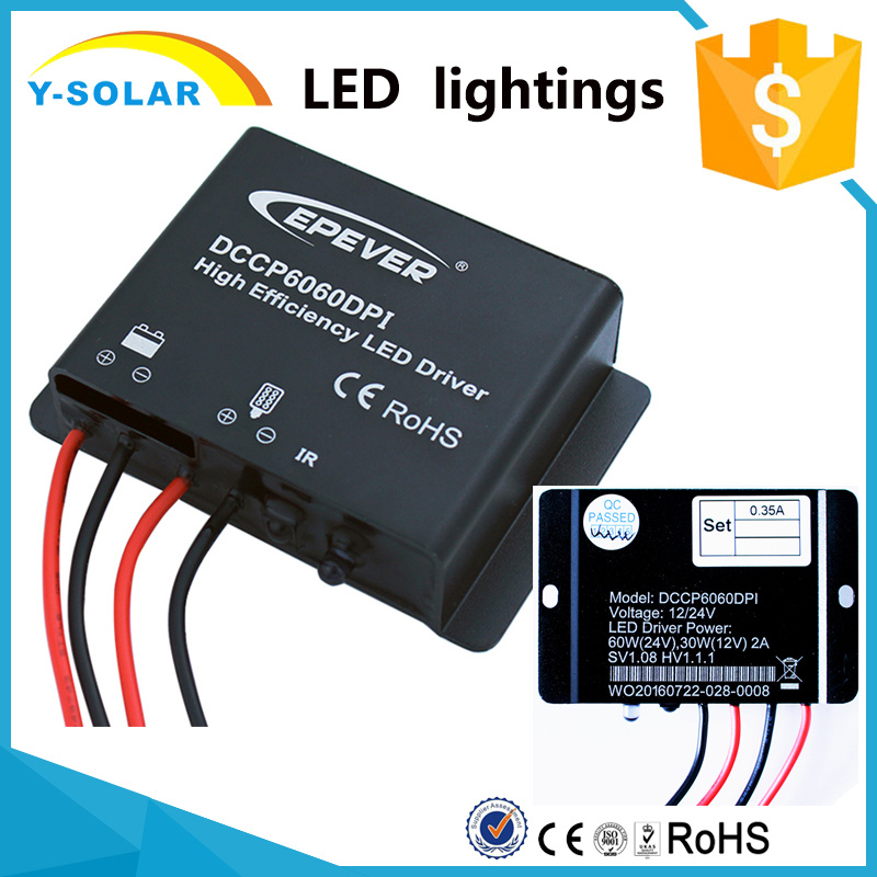 12V/24V95.7% Efficiency 30W 60W LED Lighting Driver Power Dccp6060dpi