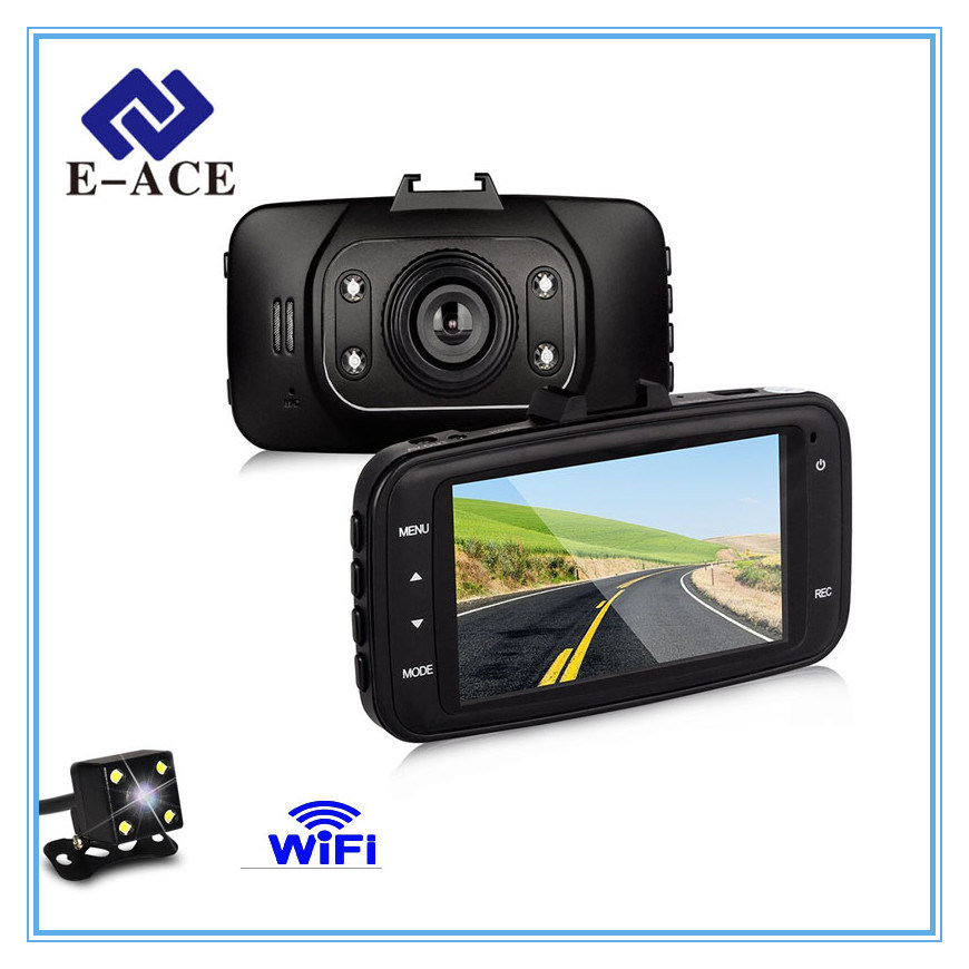 Full HD Mini Dual Camera Lens WiFi Night Vision Car DVR