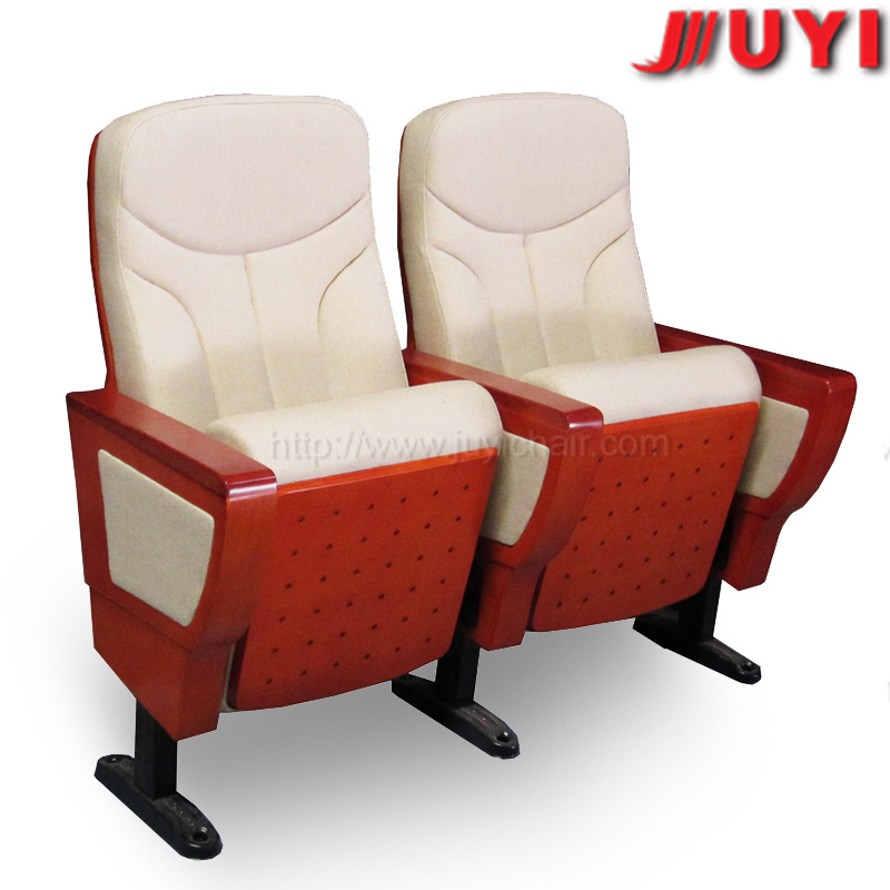 Red Conference Chair Manufactory Price 1024*690*580mm Wooden Fabric Conference Chair with Writing Tablet