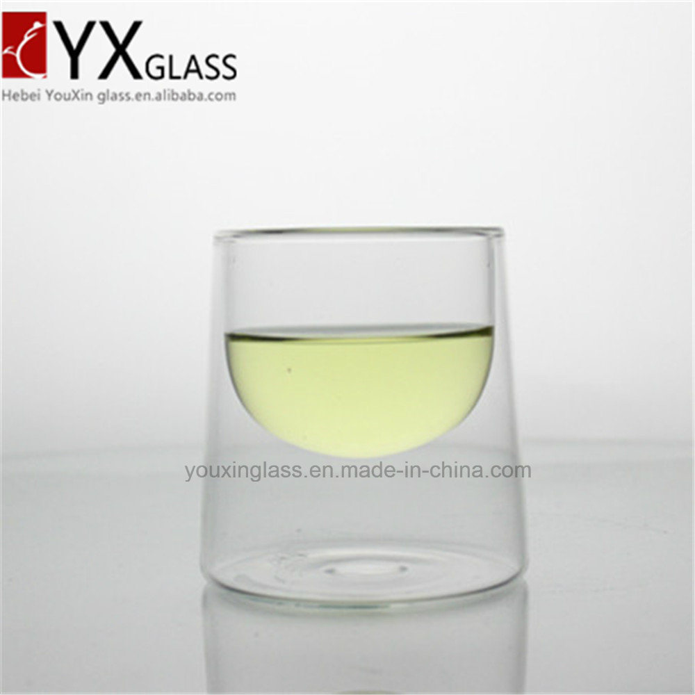150ml Borosilicate Double Wall Glass Cup/New Style Reat-Resistant Tea Cup/Coffee Espresso Mug