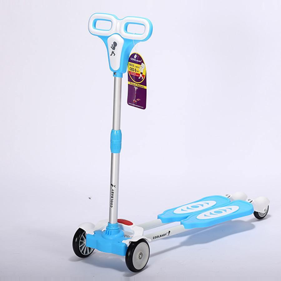 Aluminum Alloy Folding 4 PU Wheels Child Baby Scooter