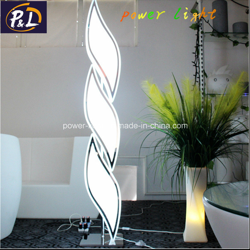 New Design Hotel Home Plastic Illuminated Decor Floor Lamp LED Floor Light