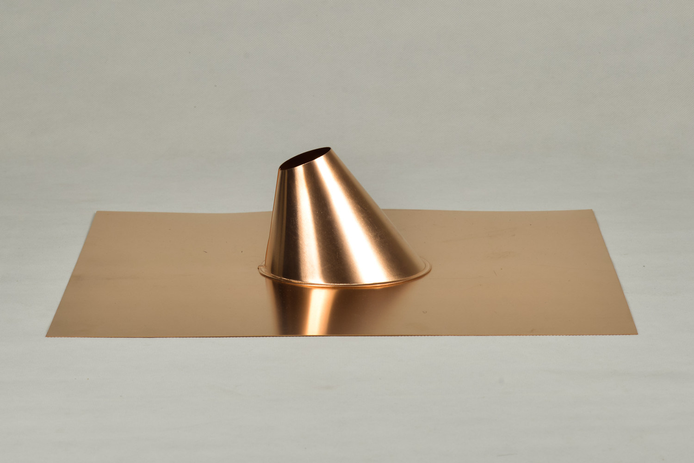 """Copper Sheet Metal 1.5"""" Roof Flashing for Regular Base"""