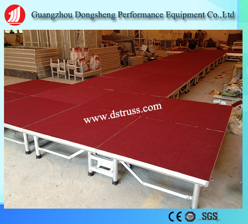 Easy Use Moving Stage Aluminium Alloy Folding Stage