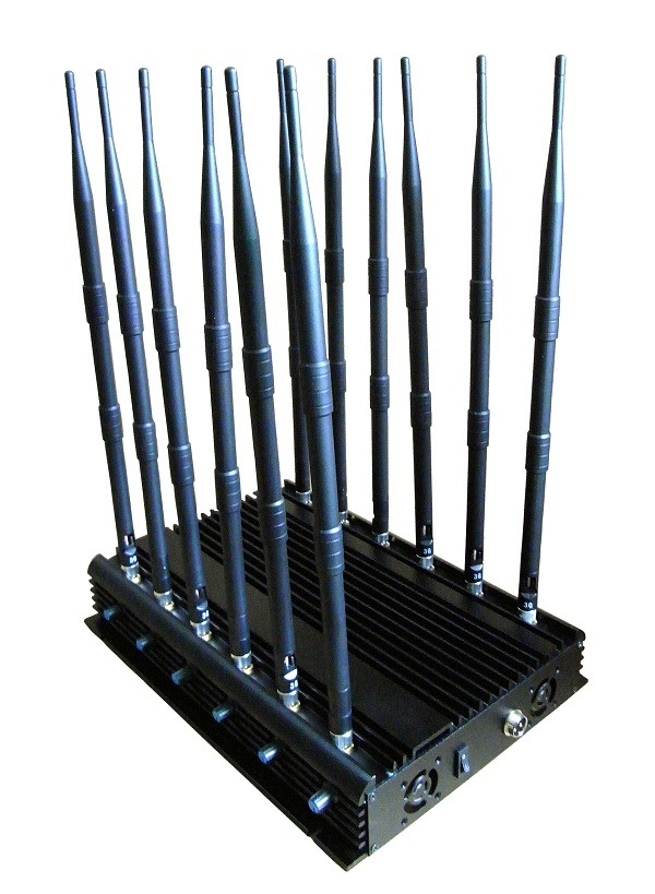 Hotsale All Bands Cell Phone Jammer with 12 Long Omni Antennas RF Jammer 433MHz