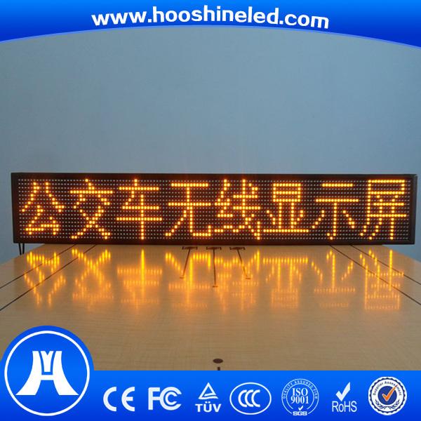 Long Lifespan P10 SMD3528 Yellow Color Taxi LED Display