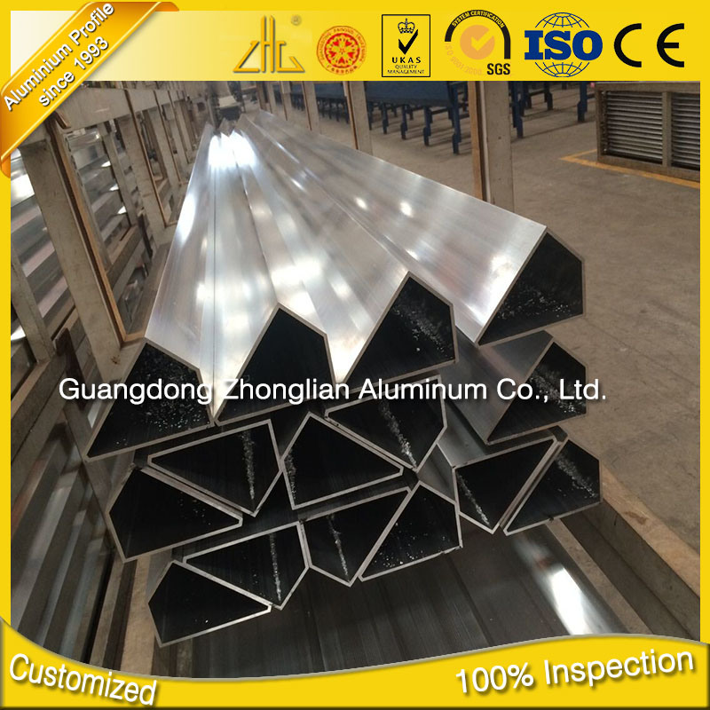 6063 T5 Triangle Curtain Pipe for Building