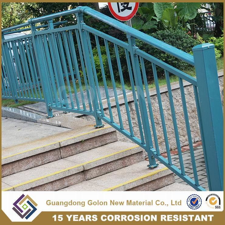 Outdoor Steel Pipe Stair Handrail