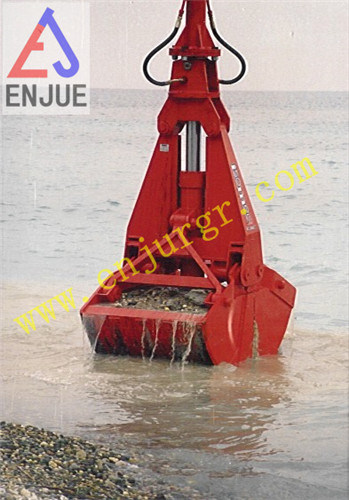 Undewater Ropes Dredging Clamshell Grab Bucket on Ship