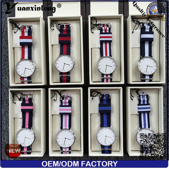 Yxl-218 Promotional Custom Diamond Watch Elegant Simple Design Colorful Nylon Strap Watch Fashion Casual Quartz Men Women Wristwatch