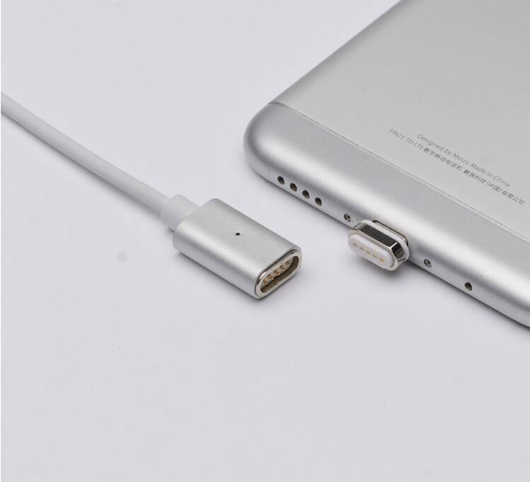 Metal-Head Type-C Cable Micro USB Data Cable Magnet USB Cable