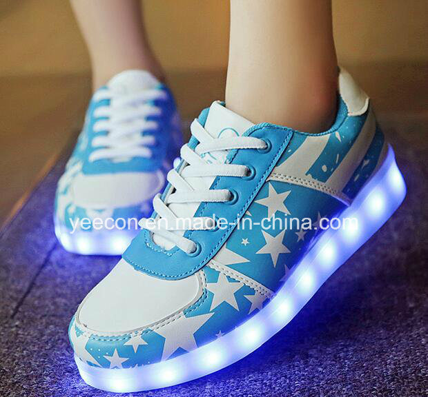 Rechargeable Light up LED Sneaker Running Shoe Flashing Men Luminous Shoes