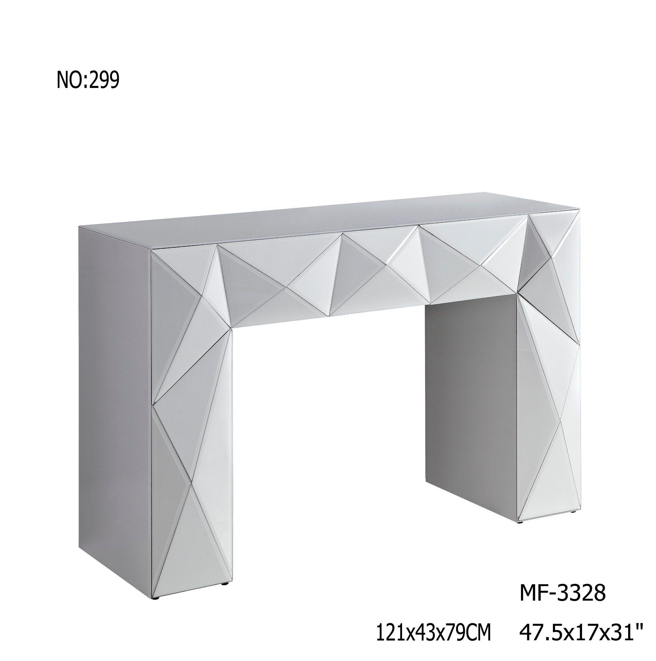2017 White Glass Console Table Mirror Furniture