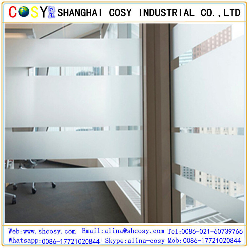 Adhesive Window Glass Film for Privacy Protection & Decoration