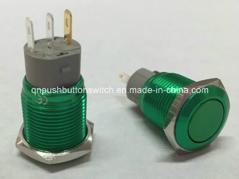 16mm Custom Made Plated Green Red Latching Without LED Switch