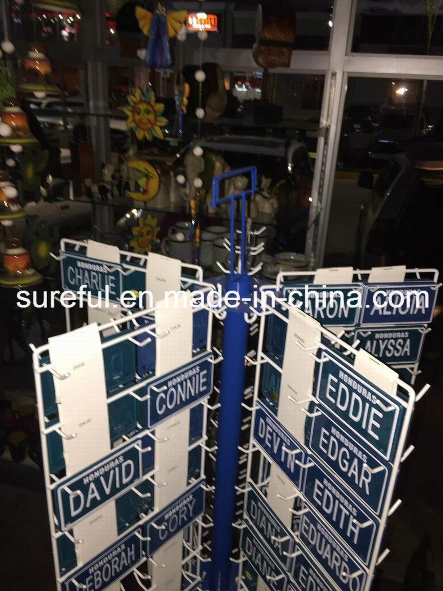 Rotatable Display Stand for License Plates