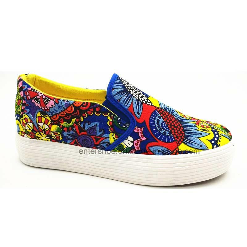 2017 New Style Women Vulcanized Canvas Shoes (ET-LD160133W)