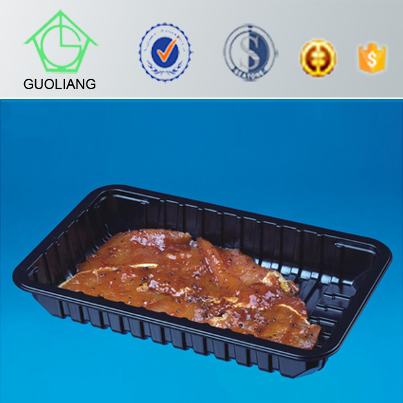 Safety Food Grade Custom Plastic PP/Pet Food Container for Meat Poultry with Absorbent Pad
