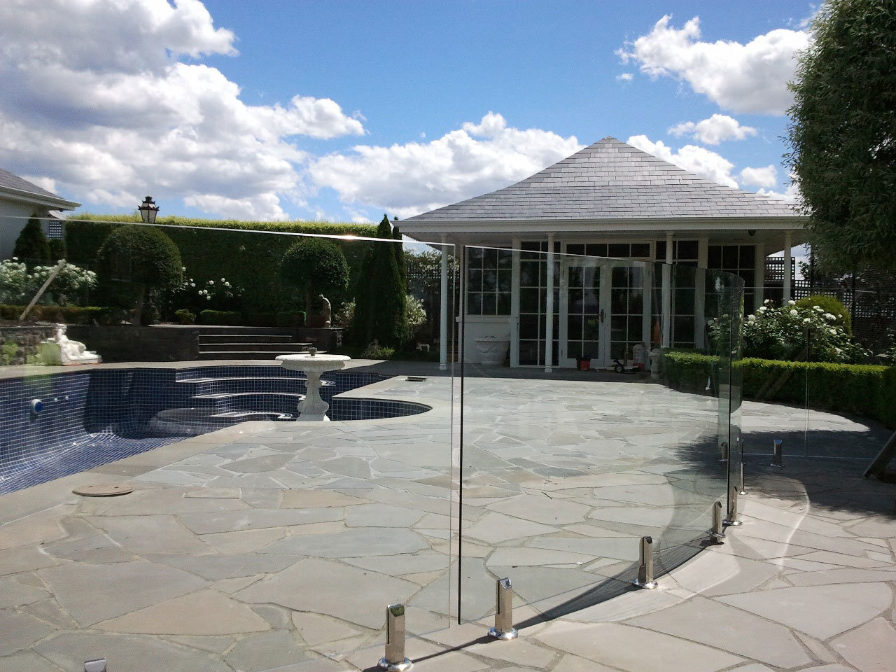 Glass Railing, Glass Balustrade, Stainless Steel Handrail