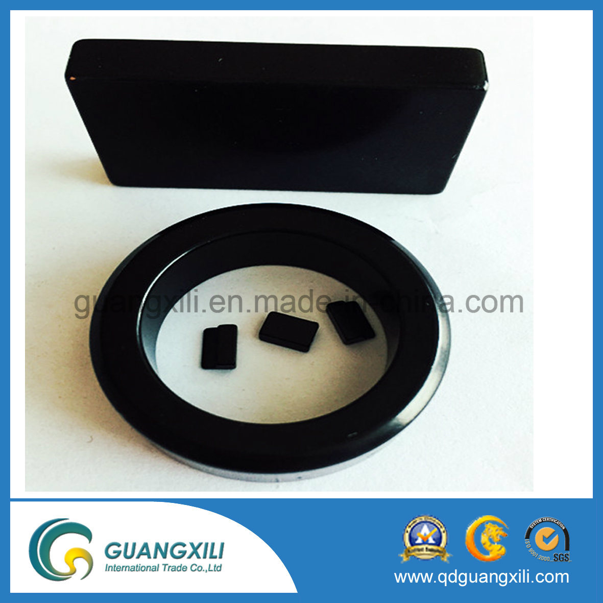 Permanent Neodymium NdFeB Teflon PTFE Ring Magnet