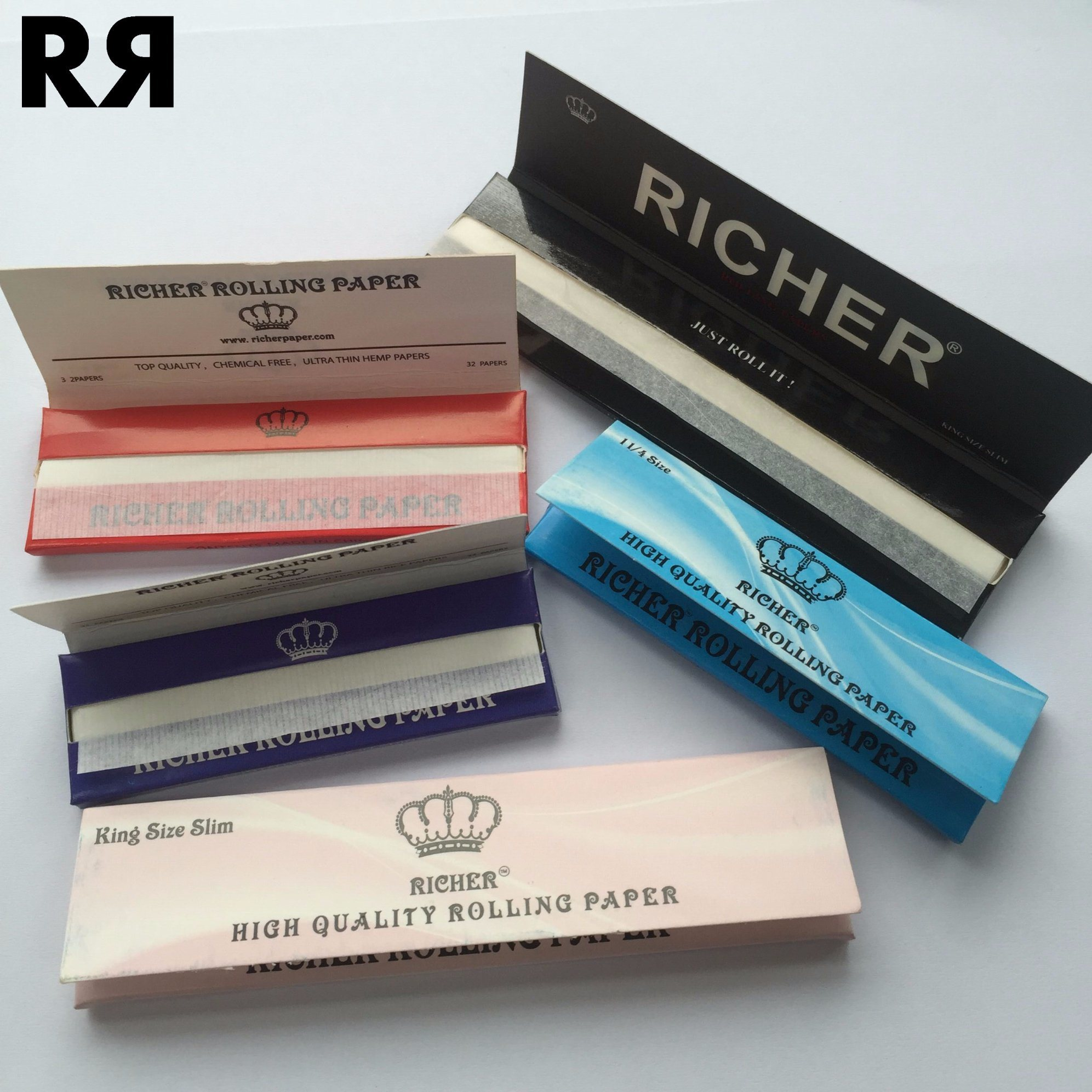 Richer Custom Brand Hemp Cigarette Smoking Rolling Paper with Filter Tips