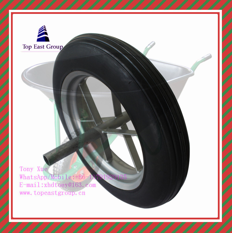 300-7, 350-8, 400-8 High Quality PU Foam Wheel